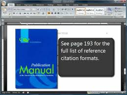 download apa format 6th edition free apa format and citations sixth 6th edition youtube
