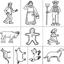 Small Picture Man Rubber Stamp Set