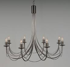 8 arm wrought iron candle chandelier