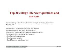 Best Interview Answers Job Interview Questions Interview Answers For
