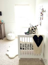 sheepskin rug for baby nursery designs room