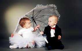 cute wedding baby couple wallpaper