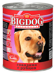 "<b>Консервы</b> для собак <b>Зоогурман</b> ""<b>Big</b> Dog"", с говядиной и рубцом ..."