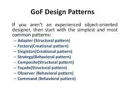 Gof Design Patterns Unit Iv Gof Design Patterns Ppt Download