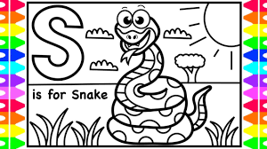 Let's color the abc's with this alphabet coloring page for kids and then sing the abc song! Abc Coloring S Is For Snake Fun Coloring Pages For Kids Learning Colors For Children Toddlers Youtube