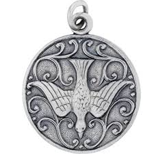 sterling silver divino hand stamped antique finish holy spirit dove charm