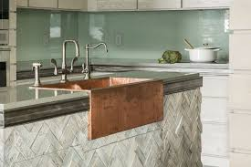 Kitchen With Glass Tile Backsplash Inspiration Striking Alternatives To Tile Backsplash The Interior Collective