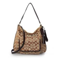 Coach Kristin In Signature Medium Khaki Shoulder Bags APO