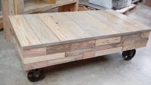 Ana White | Reclaimed Pallet Wood Factory Cart Coffee Table - DIY Projects