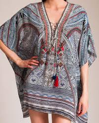 Lyst Camilla Antique Batik Short Lace Up Kaftan