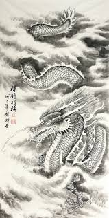 chinese dragon painting 69cm x 138cm 4732016 x