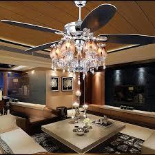 led lights for ceiling fan iron crystal lamp foyer bedroom in fans from best light