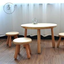 childrens table and stools solid wood tables and chairs set small round table baby kindergarten table