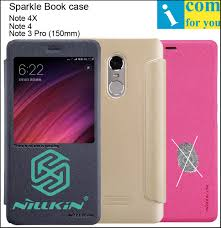 nillkin sparkle book leather flip case cover for xiaomi redmi note 4x note 4 note4 note