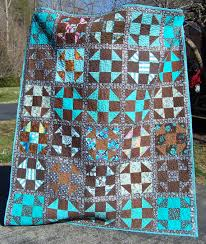 Brown & Turquoise Quilt & Click image for larger version. Name: 100_6310. Adamdwight.com