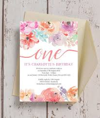 Birthday Party Invitation Pastel Floral Birthday Party Invitation From 0 80 Each
