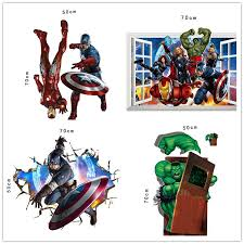 Small Picture Dhl Ship The Avengers 3d Wall Decals Stickers Avengers Wall
