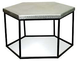 hexagon coffee table riverside furniture hammered metal hexagon coffee table hexagon coffee table australia
