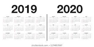 Imágenes Fotos De Stock Y Vectores Sobre 2019 2020 Calendars