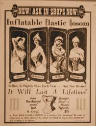 Image result for vintage ad increase your bust inflatable