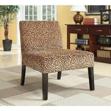photo of leopard print accent chair plush oversized leopard print accent chair 16647767