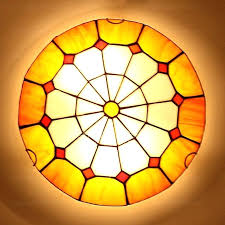 beautiful stained glass flush mount ceiling light with style flush mount ceiling light and yellow stained