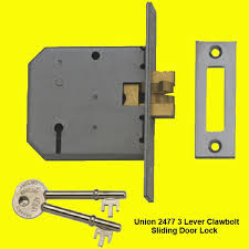 sliding door locks with key. The Union 2477 3 Lever Clawbolt Lock Are For Timber Sliding Doors Operating From Either Left Or Right Hand Side Of Frame, Working On A Key Operation Door Locks With