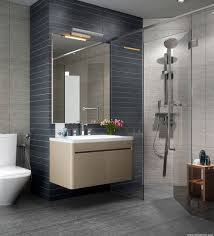 sliding bathroom mirror: decorating wall hung wood vanity with mirror for luxury bathroom design using sliding glass shower