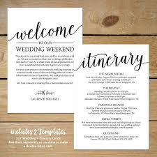 Wedding Itinerary Template Mytv Pw
