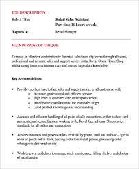 Resume Job Duties Examples Sales Job Description Resume For Car Sales Associate Skills Job 51