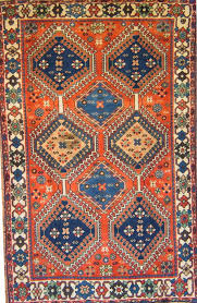 blue and orange fl rug
