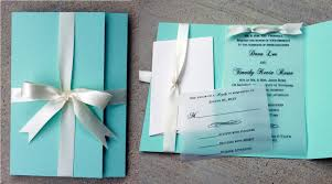 robins egg blue wedding invitation blue with white ribbon Wedding Invitation Blue And Green Wedding Invitation Blue And Green #40 wedding invitation blue green motif