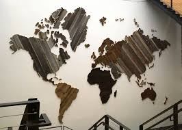Chris Knight World Map Under Armour Home Office