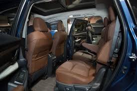 33 subaru ascent 2019 autoshow backseat interior second row