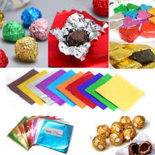 Chocolates Wrappers Details About 100pcs Square Foil Wrappers Package Sweets Candy Chocolate Lolly Wedding Decor