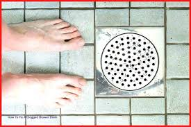 standing water in shower drain how to fix a clogged shower drain how to use baking