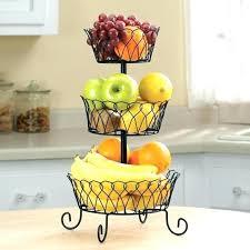 iron countertop vegetable storage fruit basket stand metal 3 tier