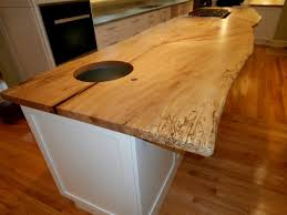 live edge wood island countertop