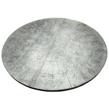 zinc top round dining table uk