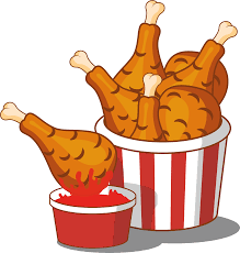 bucket of fried chicken clipart. Png Black And White Stock Hamburger Chocolate Cake Junk Food Buffalo Wing Freeuse Download Fried Clipart Bucket Chicken Inside Of