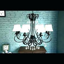 chandelier with fabric shade shades bay 5 light brushed nickel bronze fa