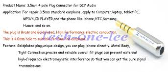 4 pole headphone jack wiring 4 image wiring diagram aliexpress com buy 4 pole 3 5mm plug male headphone jack 3 5 mm on 4