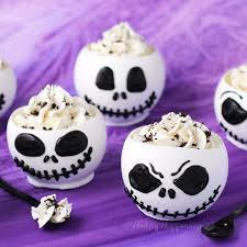 jack skellington chocolate bowls filled