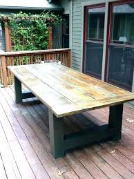 patio wood patio furniture plans round wooden outdoor table ingenious inspiration teak rustic reclaimed recycled