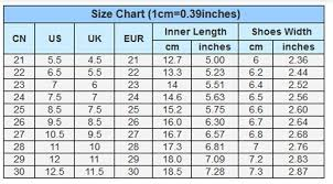 Asian Shoe Size Conversion Chart Wholesale Spring And Autumn Children Female Flat Sneakers