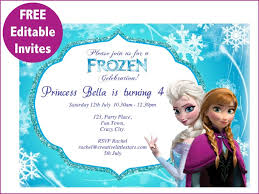 make your own frozen invitations frozen invitation layout from i combined with alluring accessories