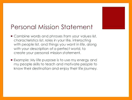 Personal Vision Statement Template Personal Vision Statement Vision