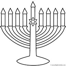 Small Picture Menorah Coloring Page Hanukkah