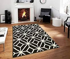 Image Modern Image Unavailable Amazoncom Amazoncom Black Moroccan Trellis 20x30 Area Rug Carpet Black And
