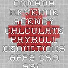 Estimate Payroll Deductions Canada Revenue Agency Calculate Payroll Deductions Apps Cra Arc